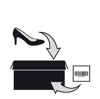 48f53dc9a4 Prepare a embalagem e cole a etiqueta de devolução no exterior